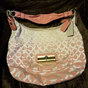 Coach Op Art Ombre Kristen shoulder Bag purse